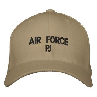 Gorra bordado pj de la fuerza aérea gorra de beisbol bordada