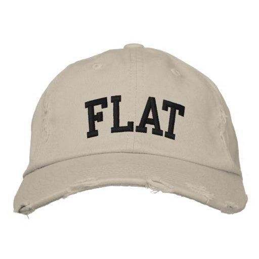 Gorra bordado plano gorra de béisbol