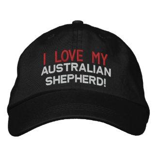 Gorra bordado raza australiana del perro de pastor gorro bordado