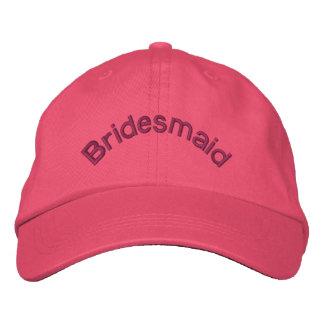 Gorra bordado rosa de la dama de honor gorras bordadas