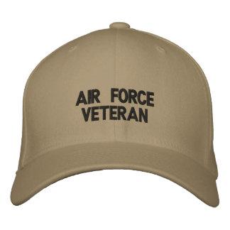 Gorra bordado veterano de la fuerza aérea gorra de beisbol bordada