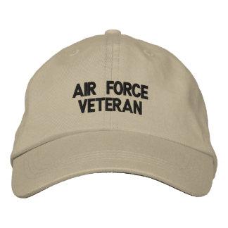 Gorra bordado veterano de la fuerza aérea gorras de béisbol bordadas