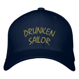 Gorra borracho del marinero gorra bordada