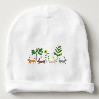 Gorra botánico caprichoso de la gorrita tejida del gorrito para bebe