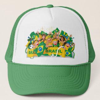Gorra brasileño del fútbol