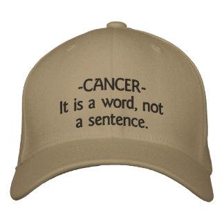 gorra - Cáncer-es una palabra, no una frase Gorra De Béisbol Bordada