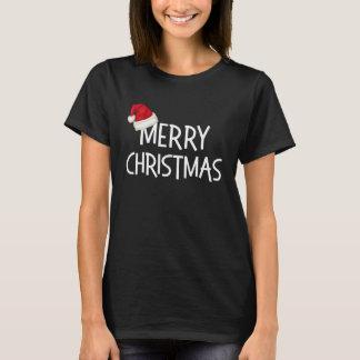 Gorra caprichoso de Santa de las Felices Navidad Camiseta