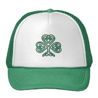 Gorra céltico del camionero del trébol del nudo
