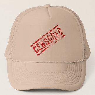 Gorra censurado del camionero