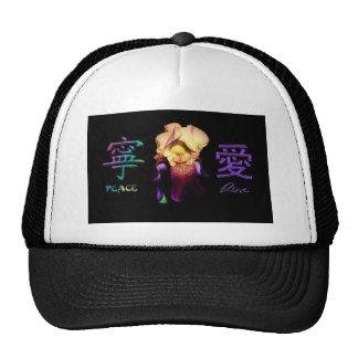 Gorra chino de los símbolos de la flor del amor de