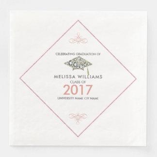 Gorra chispeante 2017 de la graduación de los servilleta de papel