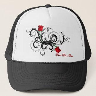 Gorra color de rosa del camionero de los brazos -