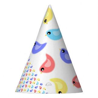Gorra colorido brillante del fiesta de los pájaros