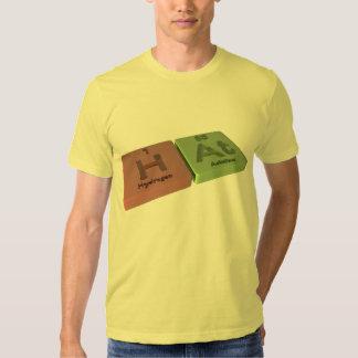 Gorra como hidrógeno de H y en el astatino Camisas