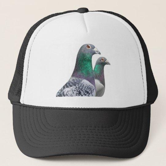 Gorra con dúo de palomas mensajeras