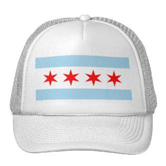Gorra con la bandera estado de Chicago, Illinois -
