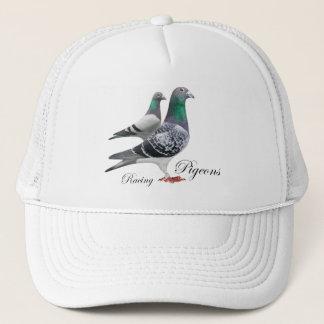 Gorra con pareja de palomas mensajeras