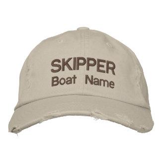 Gorra conocido personalizado del capitán y del gorros bordados