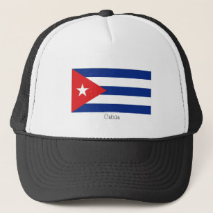 Gorra cubano del recuerdo de la bandera