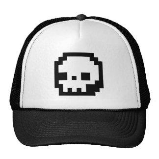 Gorra de 8 bits del arte del pixel del cráneo