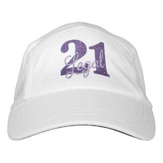 Gorra De Alto Rendimiento 21ro Purpurina legal del personalizado 21 de la
