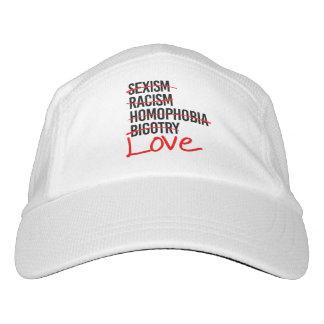 Gorra De Alto Rendimiento Amor - no a la homofobia del sexismo del racismo -