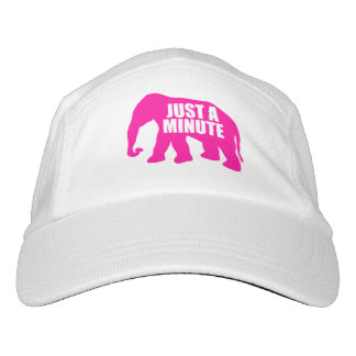 Gorra De Alto Rendimiento Apenas un minuto. Elefante rosado