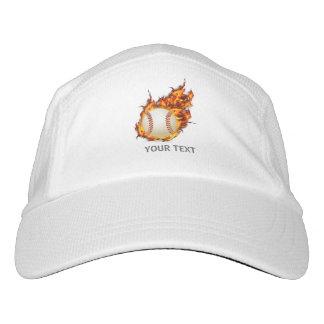 Gorra De Alto Rendimiento Bola personalizada del béisbol en el fuego
