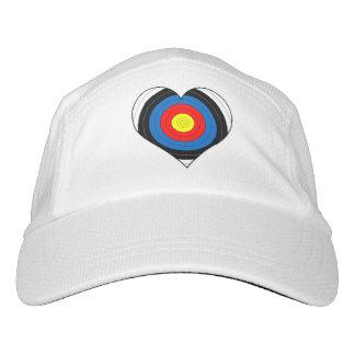 Gorra De Alto Rendimiento Corazón de la blanco del casquillo del tiro al