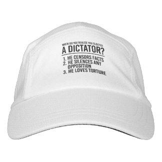 Gorra De Alto Rendimiento Cuando usted realiza usted eligió a un dictador -