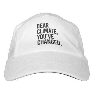 Gorra De Alto Rendimiento Estimado Climate, usted tiene cambio - - la