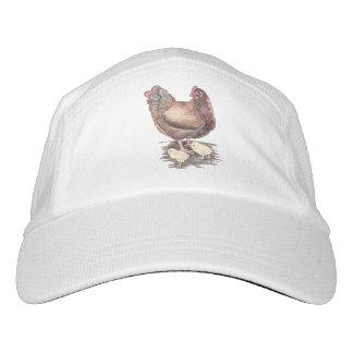Gorra De Alto Rendimiento Gallina de la madre y acuarela de los polluelos