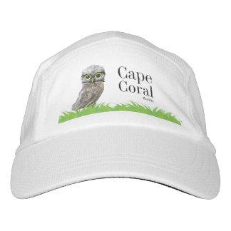 Gorra De Alto Rendimiento Madriguera de búhos en el coral la Florida del