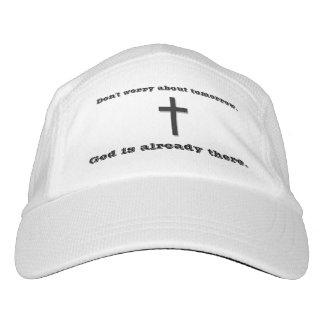 Gorra De Alto Rendimiento No se preocupe la cruz del casquillo w/Black