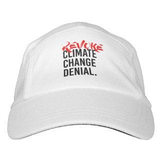 Gorra De Alto Rendimiento REVOQUE la NEGACIÓN del CAMBIO de CLIMA - - la