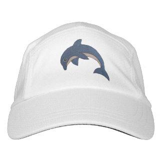 Gorra De Alto Rendimiento Salto blanco de los estómagos de los delfínes