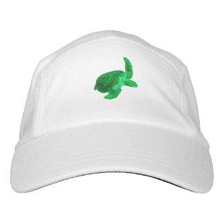 Gorra De Alto Rendimiento Tortuga de mar verde tribal