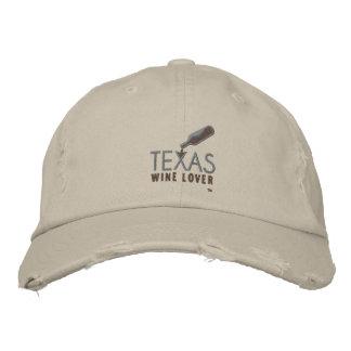 Gorra de béisbol apenada amante del vino de Tejas