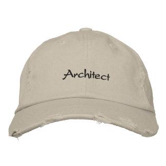 Gorra de béisbol apenada arquitecto de la mirada