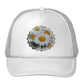 Gorra de béisbol bonito de las margaritas