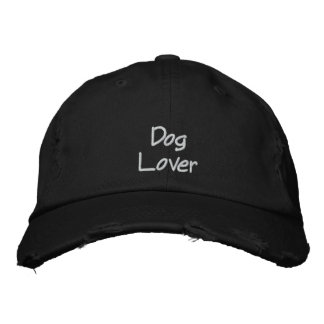 Gorra de béisbol bordada amante del perro
