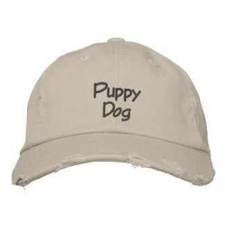 Gorra de béisbol bordada del perro de perrito