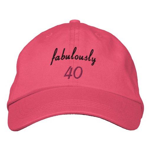 Gorra de béisbol bordada fabulosamente 40