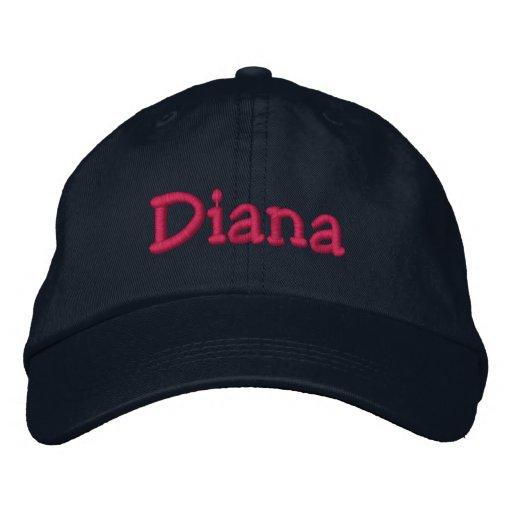 Gorra de béisbol bordada nombre de Diana  a5f67f4d8e5
