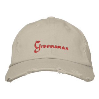 Gorra de béisbol bordada padrino de boda