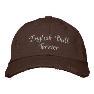 Gorra de béisbol bordada perro de bull terrier del