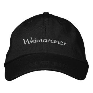 Gorra de béisbol bordada perro de Weimaraner