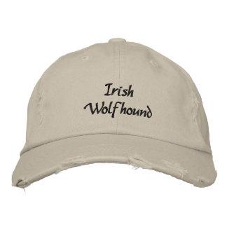 Gorra de béisbol bordada perro del Wolfhound