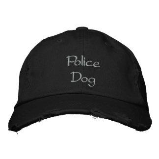 Gorra de béisbol bordada perro policía
