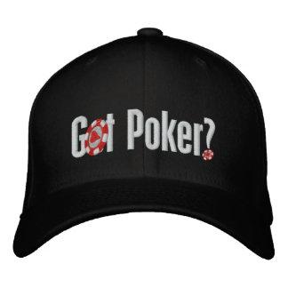 Gorra de béisbol bordada póker conseguida